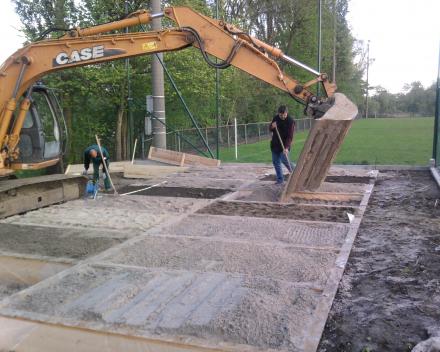 Ganda Criteria - aanleg proefvelden ETS Field Days Belgium: opvulling met verschillende toplagen.