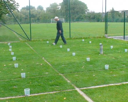 Ganda Criteria - proefvelden ETS Field Days Belgium: meting regenval.