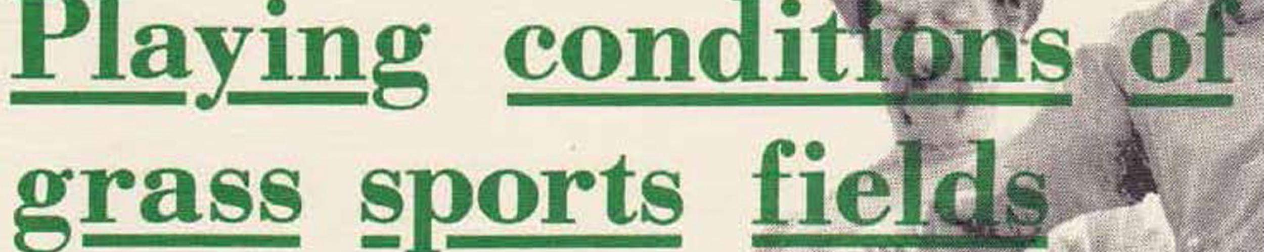 50 jaar normen voor de aanleg van grassportvelden